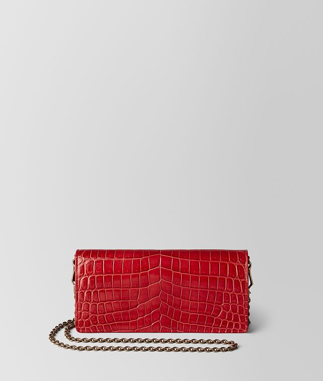 BOTTEGA VENETA CHINA RED CROCODILE CHAIN WALLET CHAIN WALLET [*** pickupInStoreShipping_info ***] fp