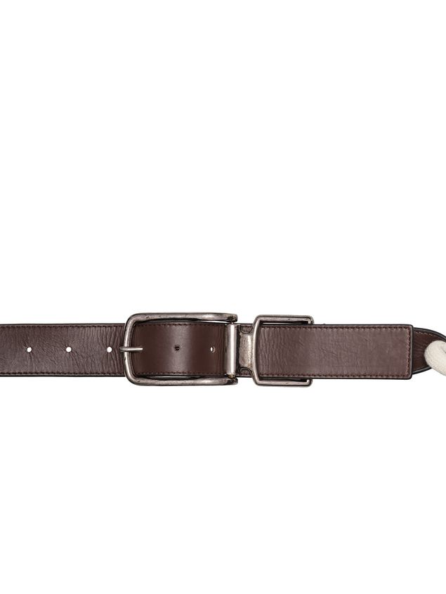Marni Thin belt in calfskin and rope Woman - 2