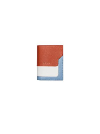 Marni Wallet in saffiano calfskin with snap fastening Woman