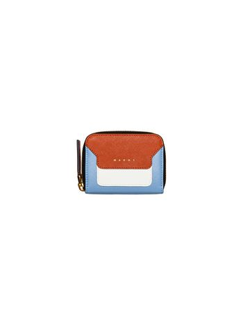 Marni Square wallet in saffiano calfskin with zipper Woman