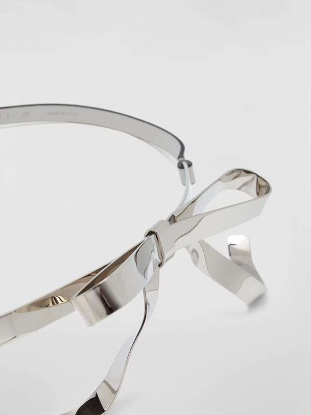 Marni Belt in calfskin with silver-tone bow Woman - 3