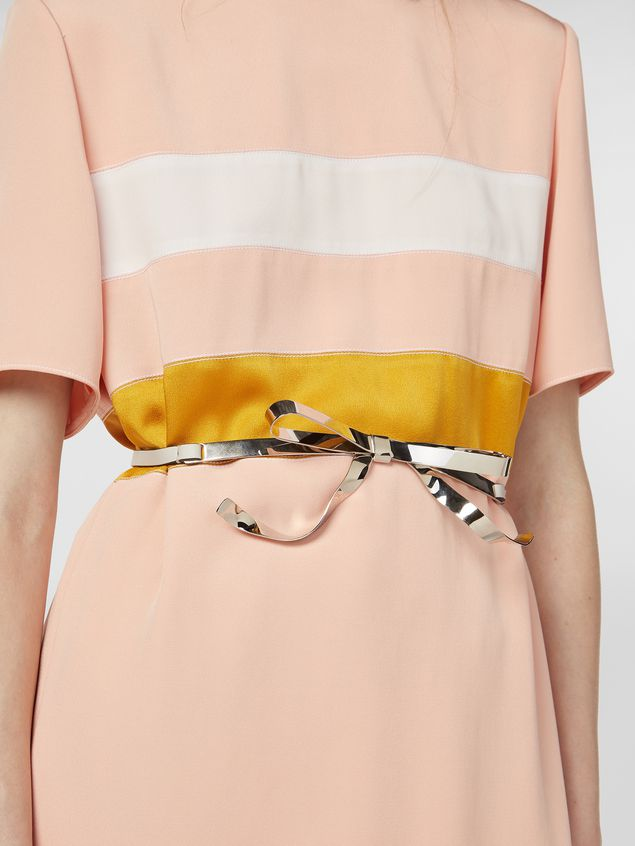 Marni Belt in calfskin with silver-tone bow Woman - 2