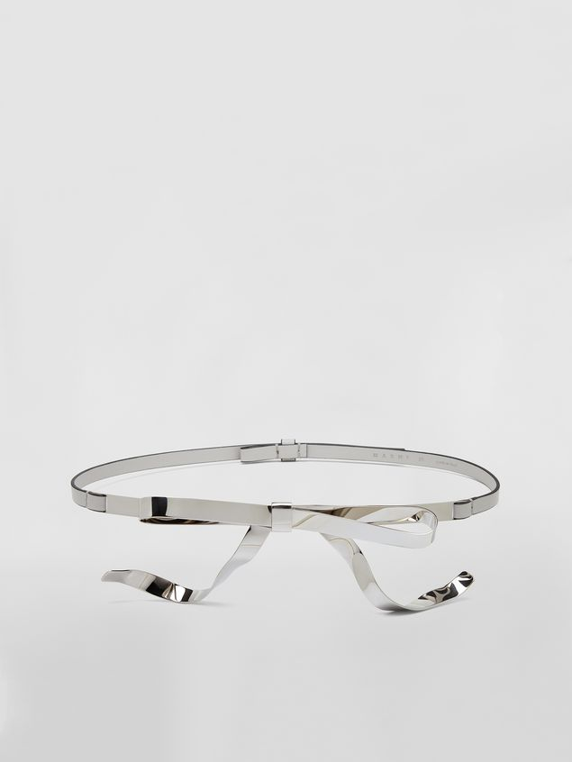 Marni Belt in calfskin with silver-tone bow Woman - 1