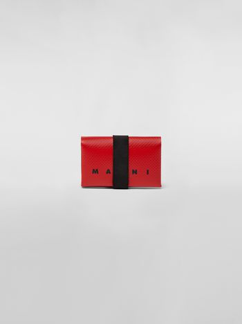 Marni Wallet in PVC with logo red Man