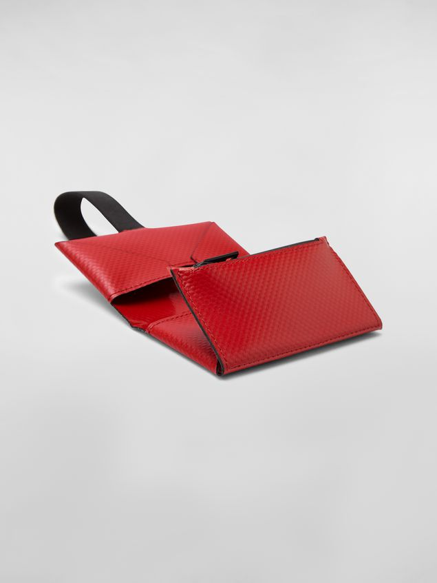Marni Wallet in PVC with logo red Man - 5