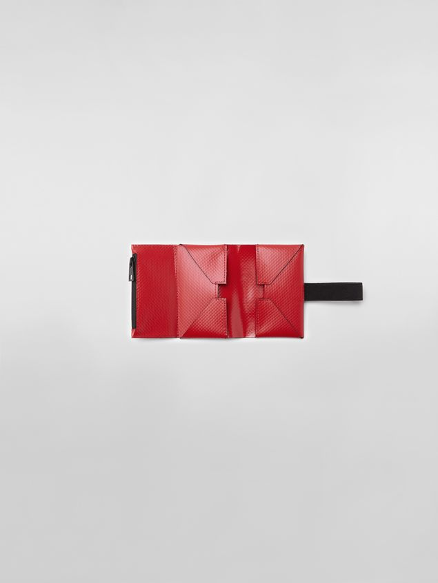 Marni Wallet in PVC with logo red Man - 2