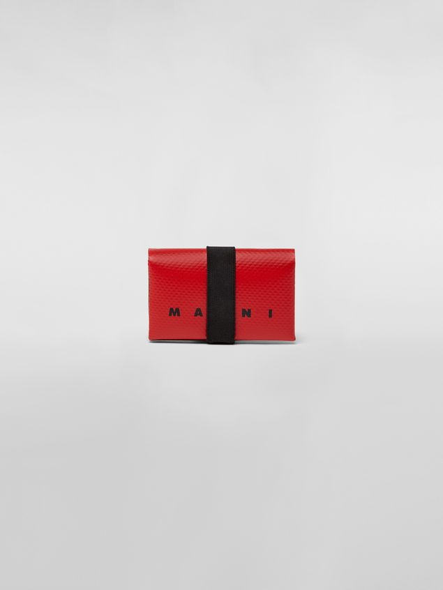 Marni Wallet in PVC with logo red Man - 1