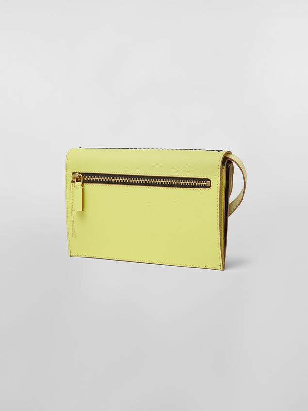 Marni Wallet in calfskin with triple flap black and yellow Woman - 3