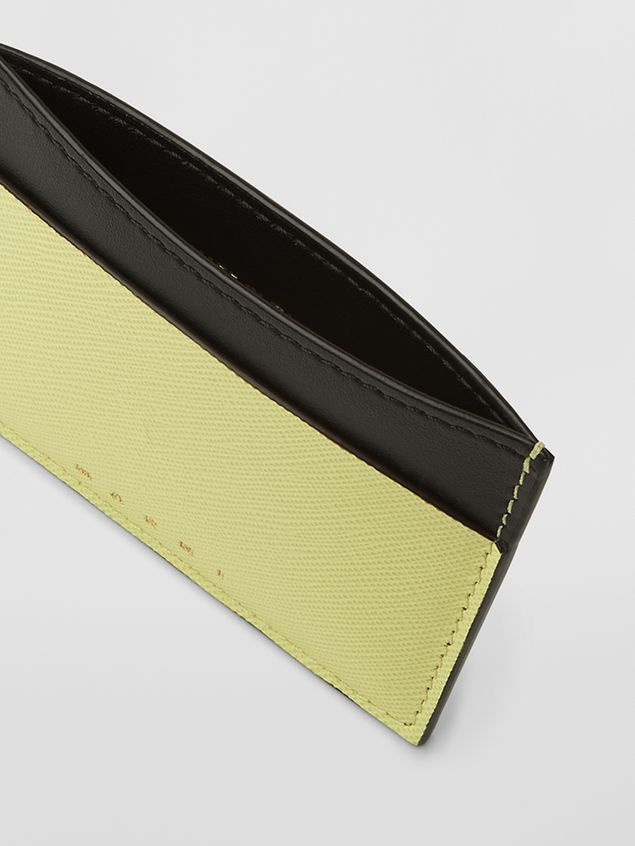 Marni Credit card case in calfskin black and yellow Woman - 2
