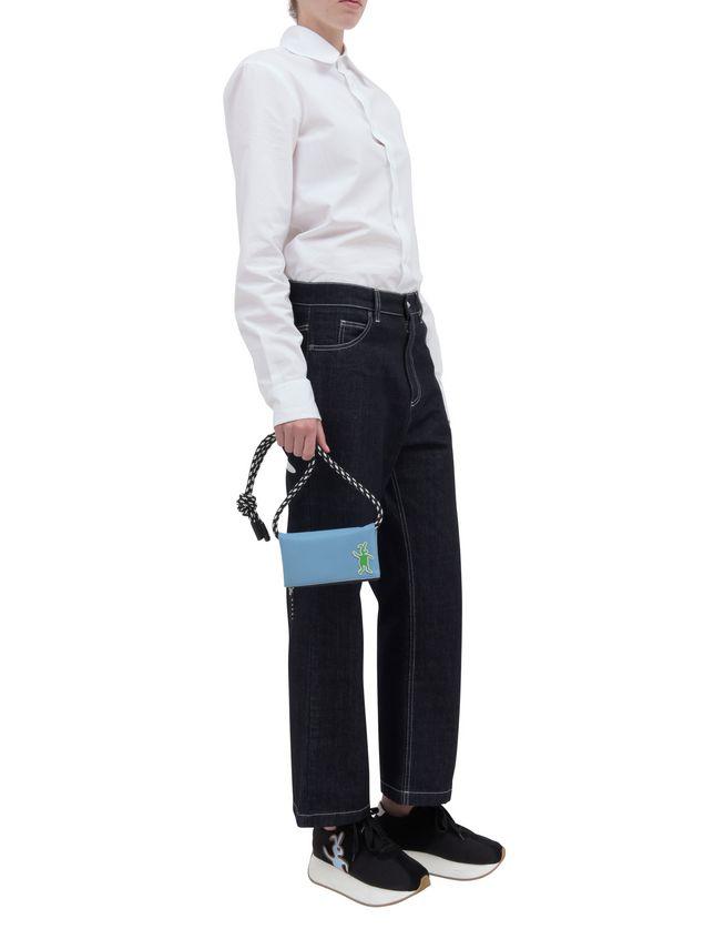 Marni Wallet in pale blue nylon  Man - 5