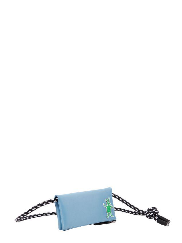Marni Wallet in pale blue nylon  Man - 2