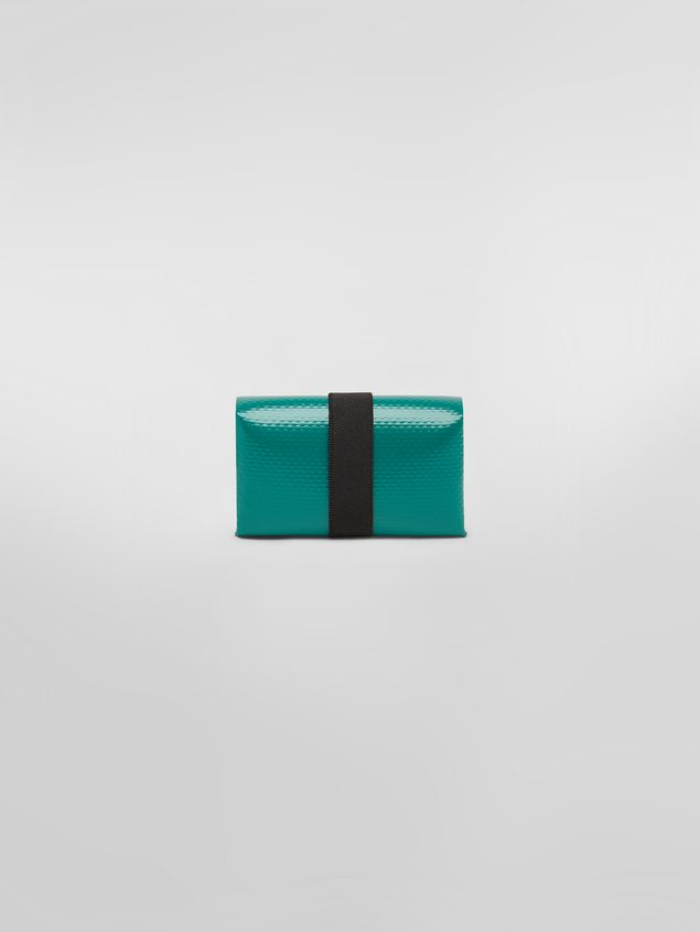 Marni Wallet in PVC with logo green Man