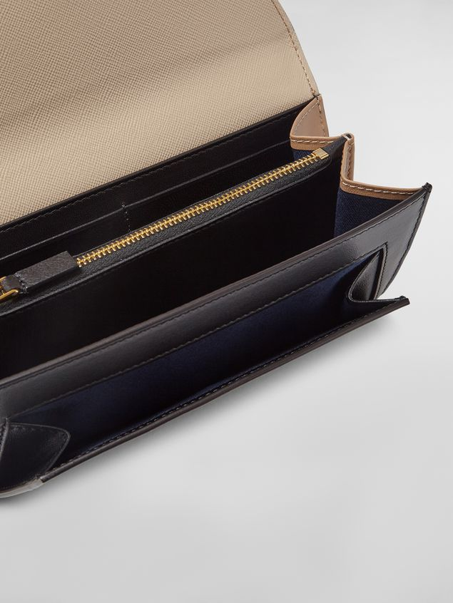 Marni - Rectangular wallet in calfskin black and tan - 2