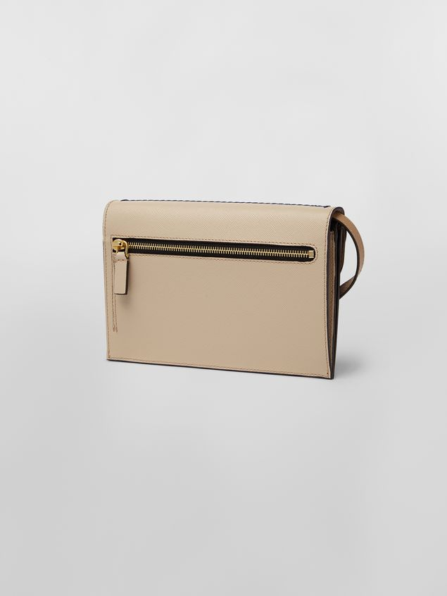 Marni Wallet in black and tan calfskin with triple flap  Woman - 3
