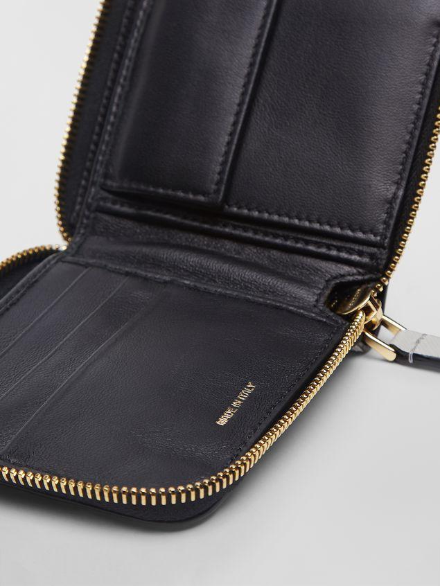 Marni - Squared wallet in calfskin black and tan - 5