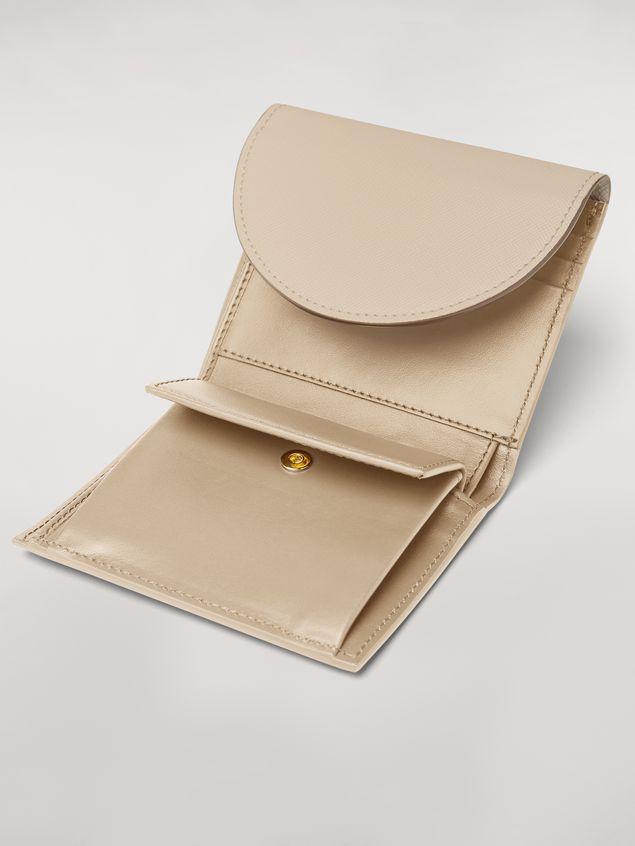 Marni - Squared wallet in calfskin black and tan - 4