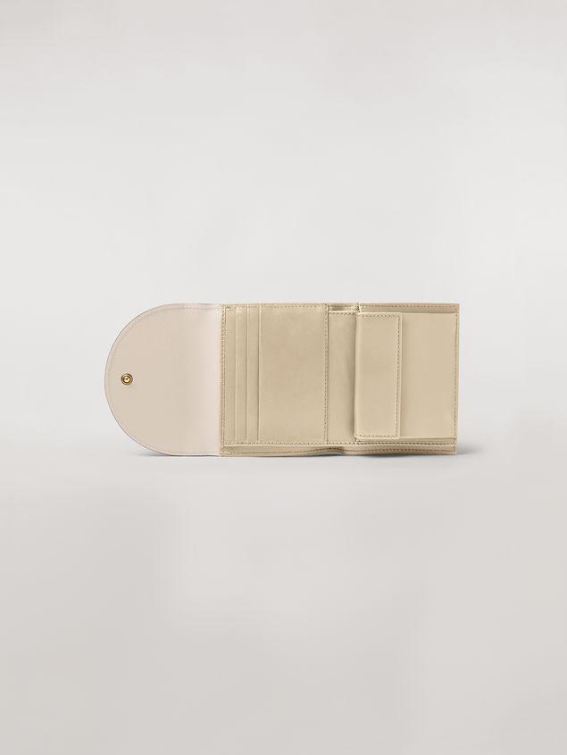 Marni - Squared wallet in calfskin black and tan - 2