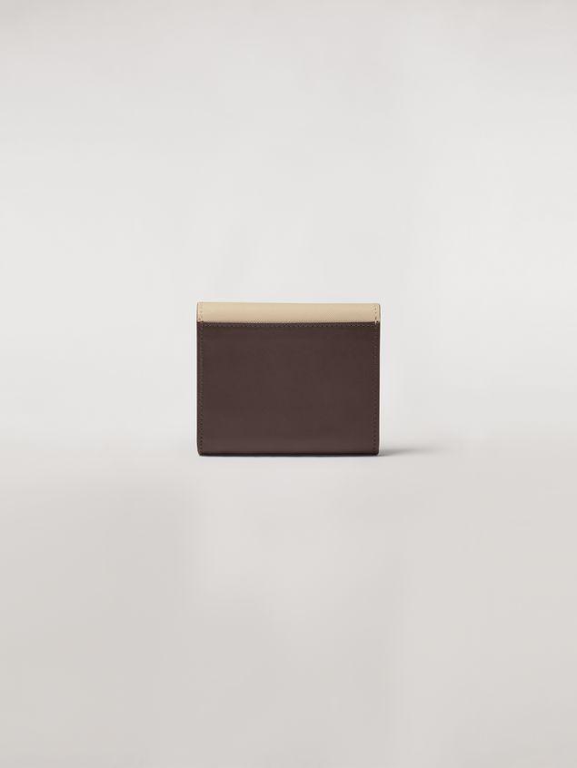 Marni - Squared wallet in calfskin black and tan - 3