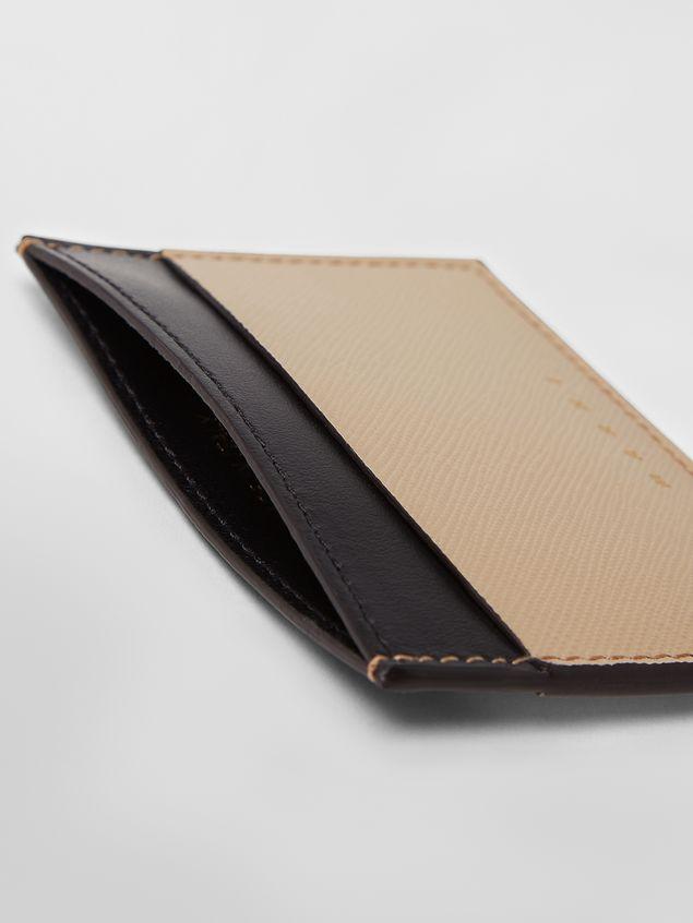 Marni Credit card case in calfskin black and tan Woman - 2