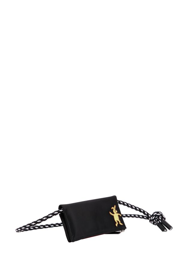 Marni Wallet in black nylon  Man - 2