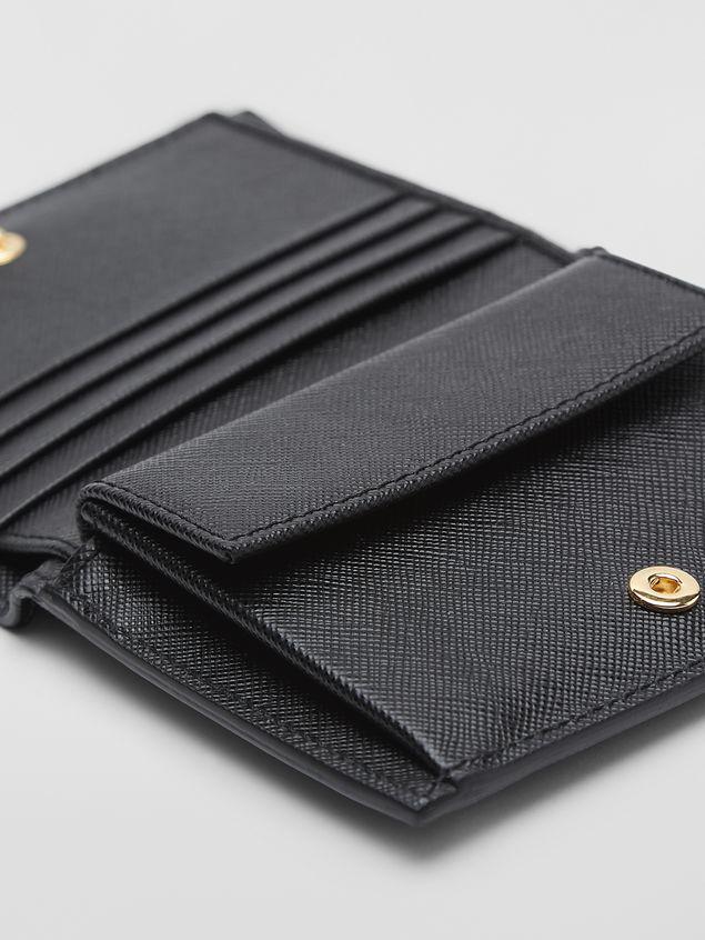 Marni Bi-fold wallet in tan, brown and black saffiano leather  Woman - 4