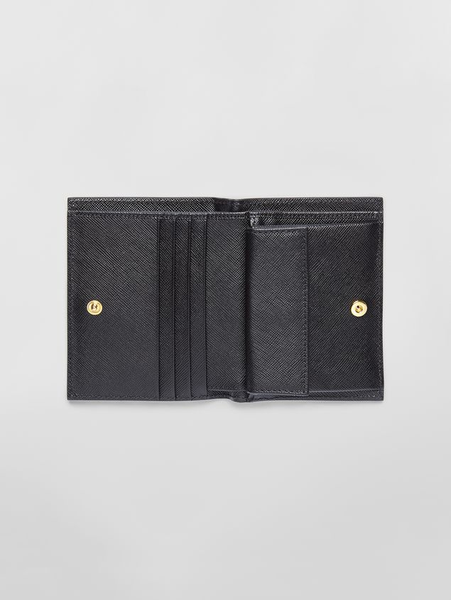 Marni Bi-fold wallet in tan, brown and black saffiano leather  Woman - 2