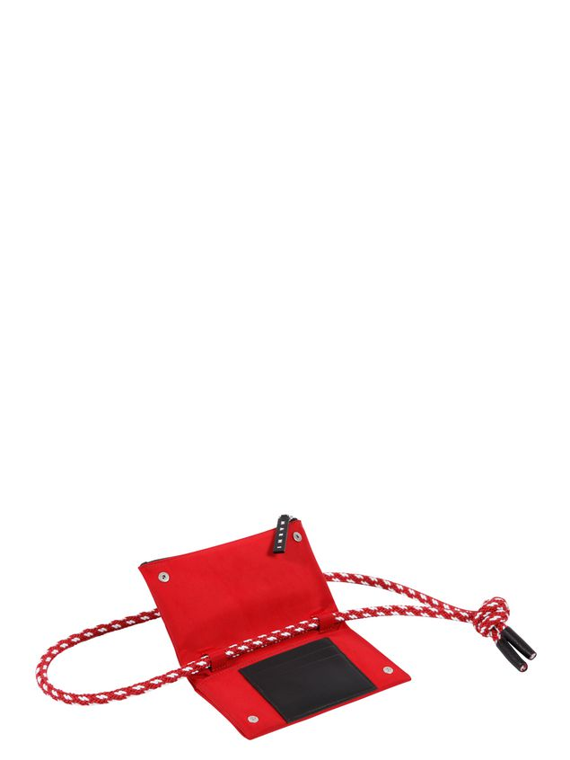 Marni Wallet in red nylon  Man - 4