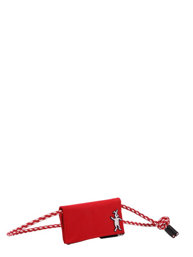 Marni Wallet in red nylon  Man - 2