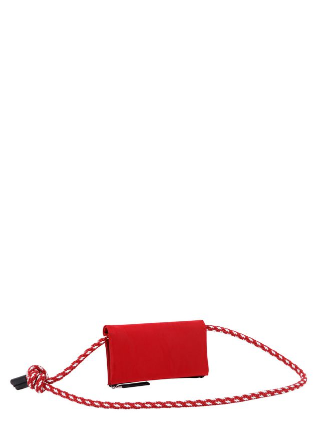 Marni Wallet in red nylon  Man - 3