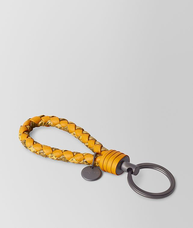 BOTTEGA VENETA KEY RING IN AYERS AND INTRECCIATO NAPPA Keyring or Bracelets E fp
