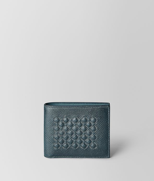 BOTTEGA VENETA BILLFOLD IN KARUNG SHINY GRID Bi-fold Wallet [*** pickupInStoreShippingNotGuaranteed_info ***] fp