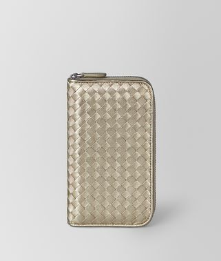 ZIP AROUND WALLET IN INTRECCIATO GROSGRAIN