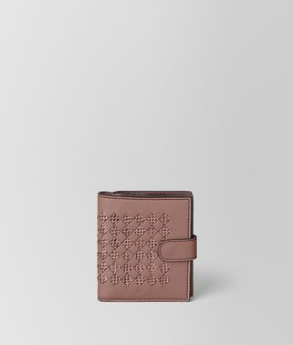 MINI WALLET IN INTRECCIATO CHEQUER AND AYERS