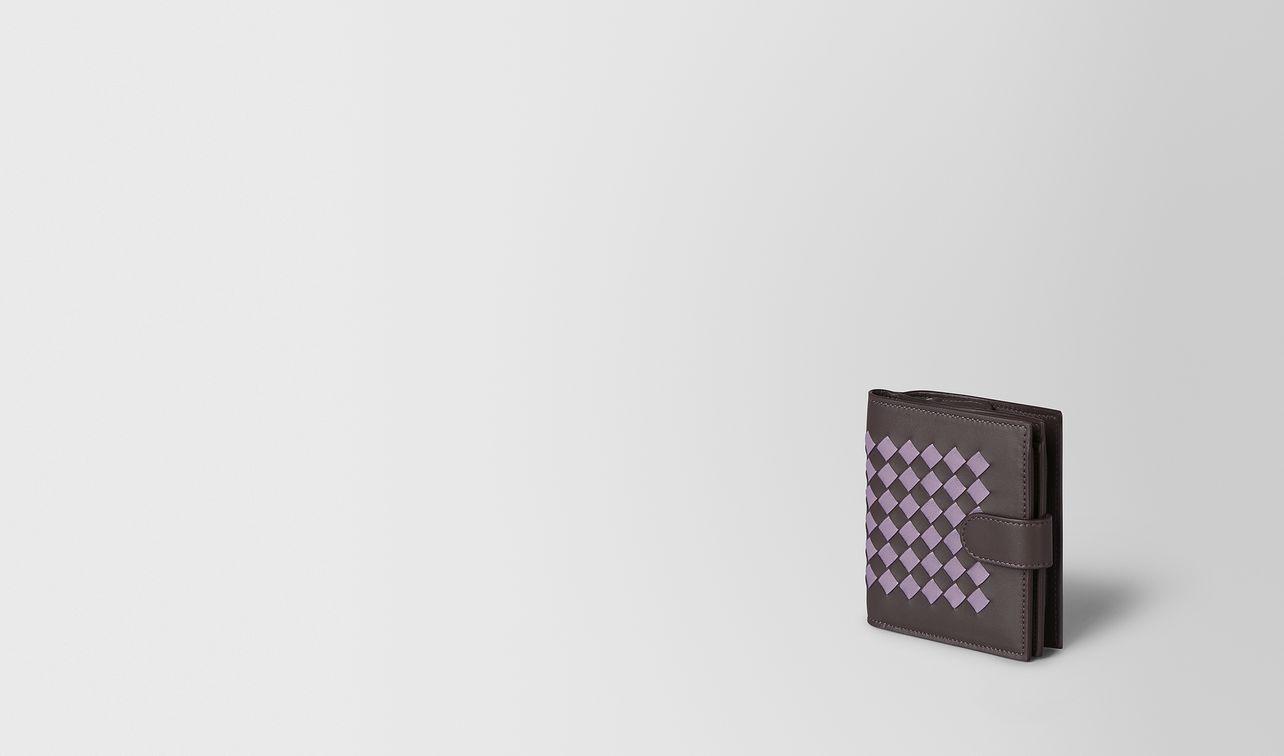mini wallet in intrecciato chequer  landing