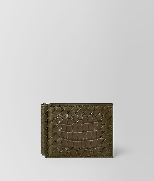 BOTTEGA VENETA BILLFOLD IN NAPPA AND SOFT CROCODILE Bi-fold Wallet [*** pickupInStoreShippingNotGuaranteed_info ***] fp