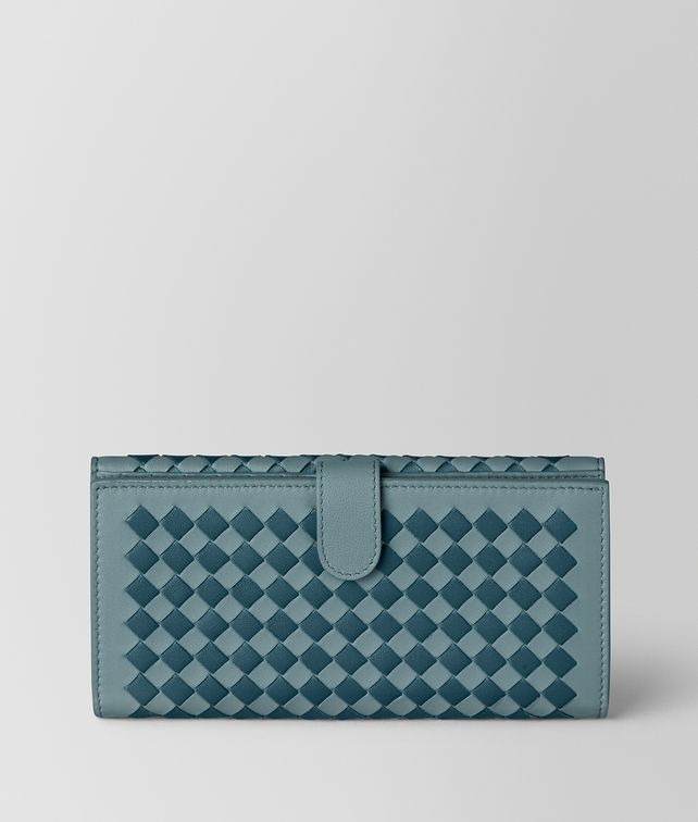 BOTTEGA VENETA FRENCH WALLET IN INTRECCIATO CHEQUER Mini Wallet [*** pickupInStoreShipping_info ***] fp