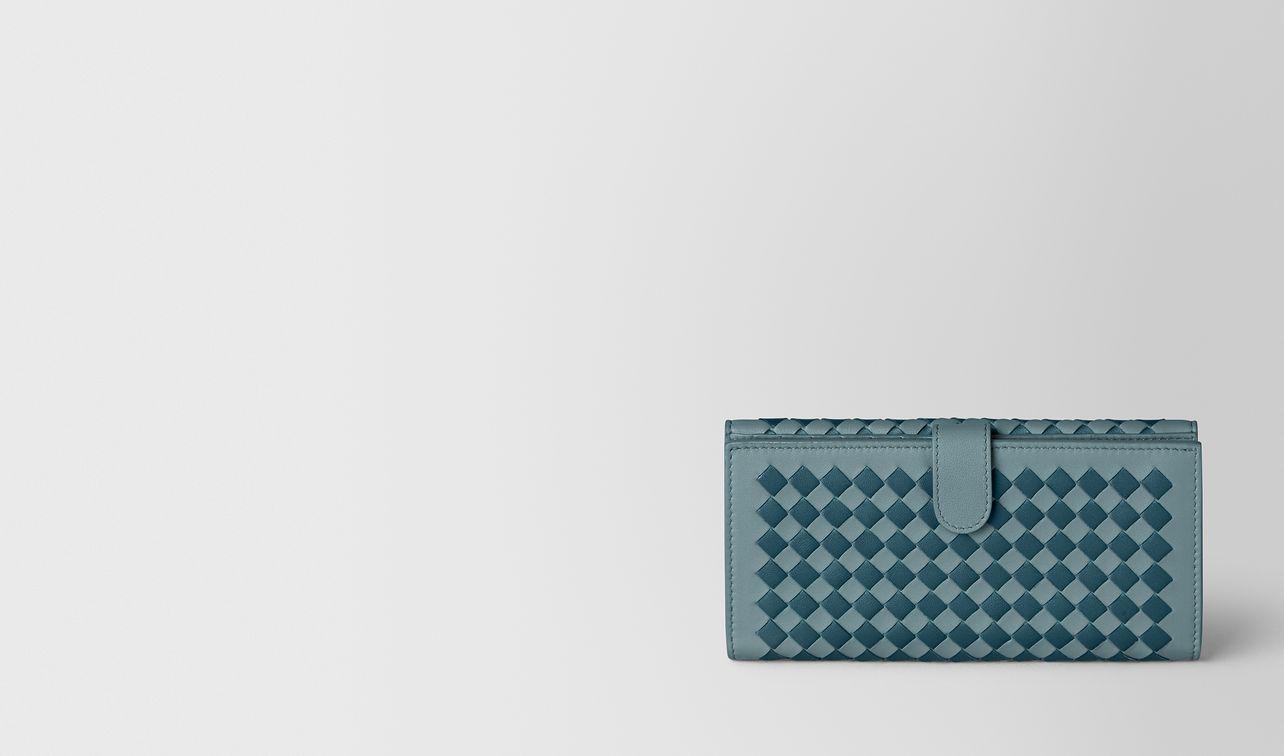 french wallet in intrecciato checker  landing