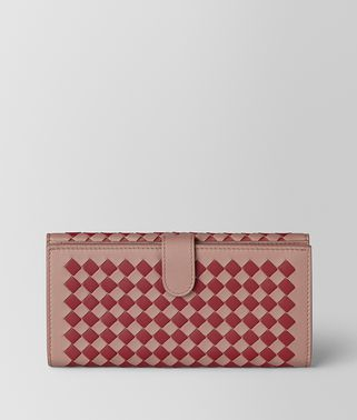 FRENCH WALLET IN INTRECCIATO CHEQUER