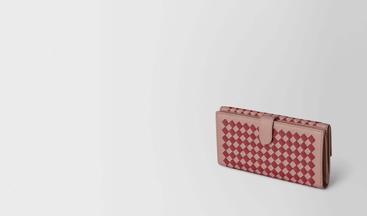 french wallet in intrecciato chequer  landing