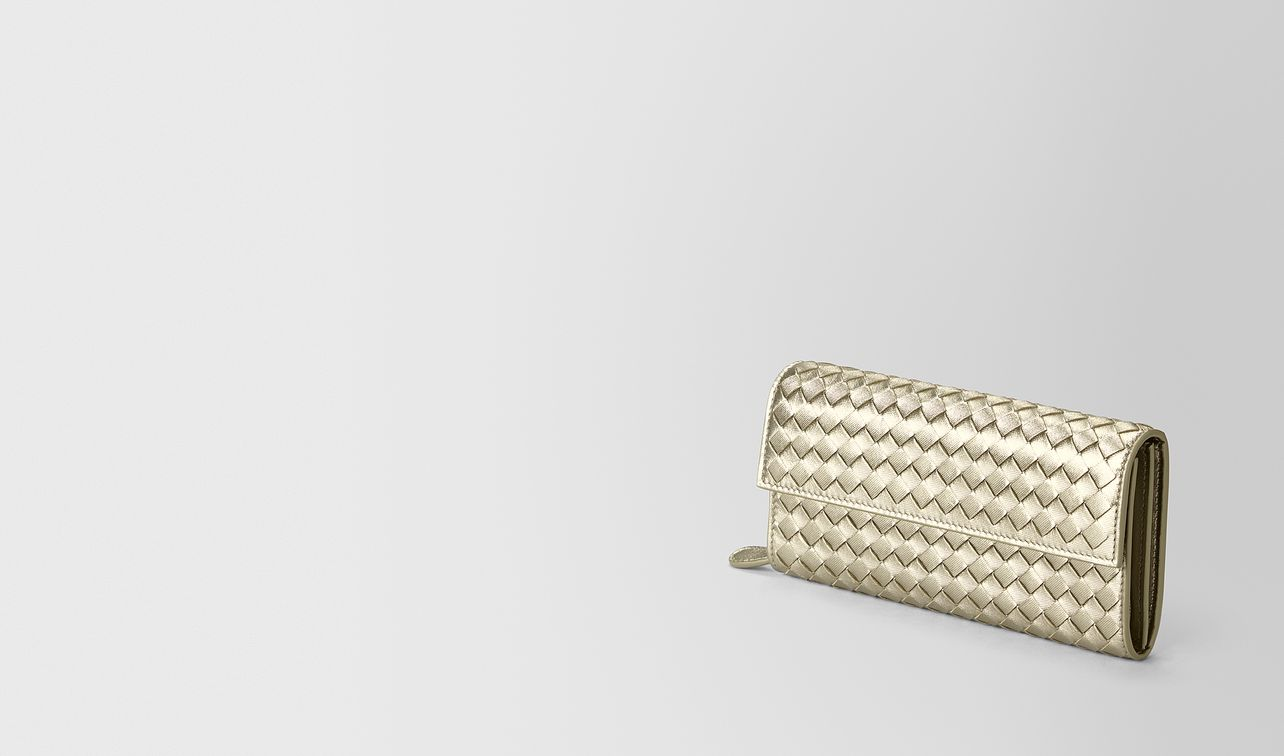 continental wallet in intrecciato grosgrain  landing