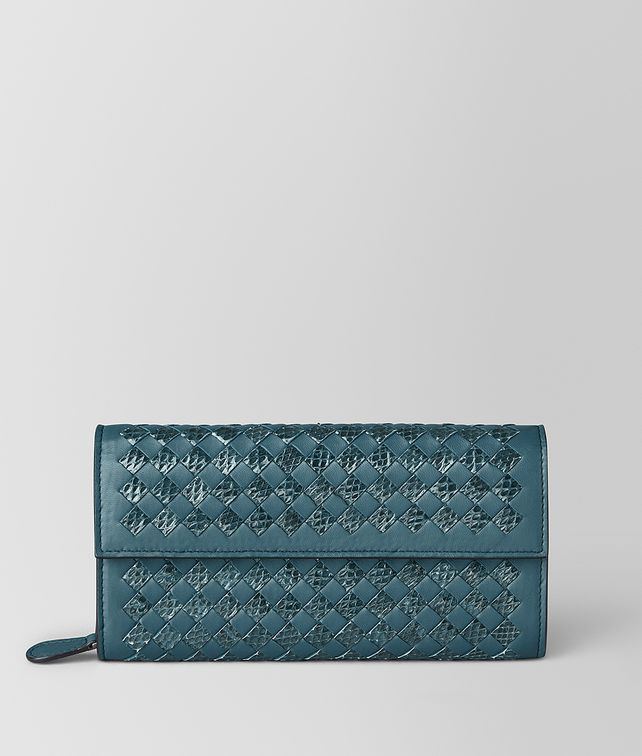 BOTTEGA VENETA CONTINENTAL WALLET IN INTRECCIATO CHEQUER AND AYERS Continental Wallet [*** pickupInStoreShipping_info ***] fp