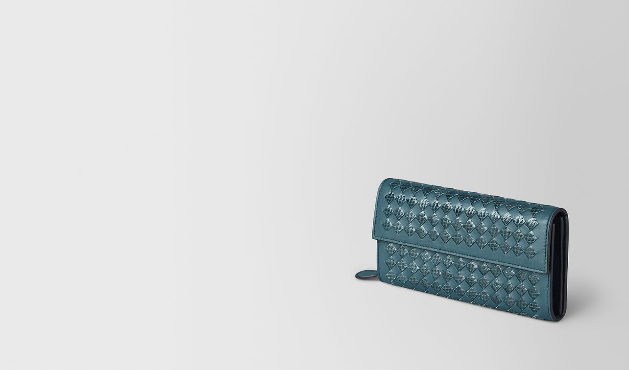 continental wallet in intrecciato chequer and ayers landing