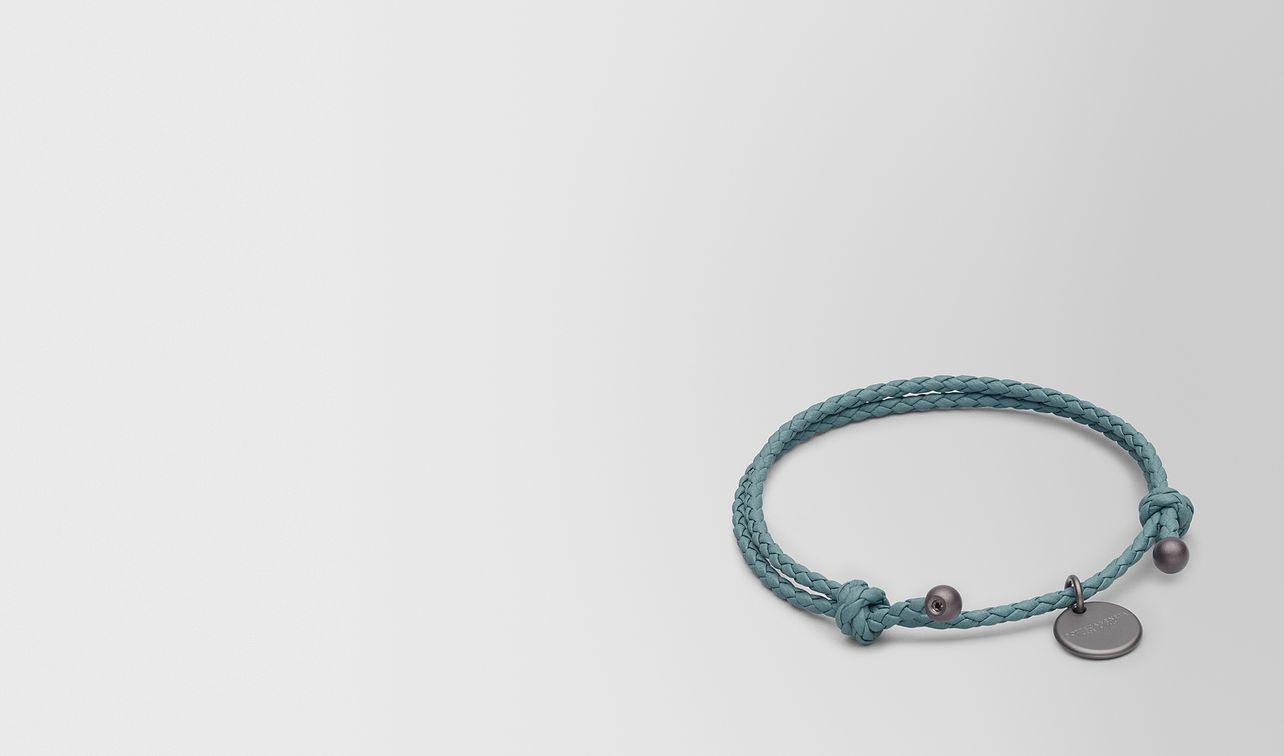 bracelet en cuir nappa intrecciato  landing