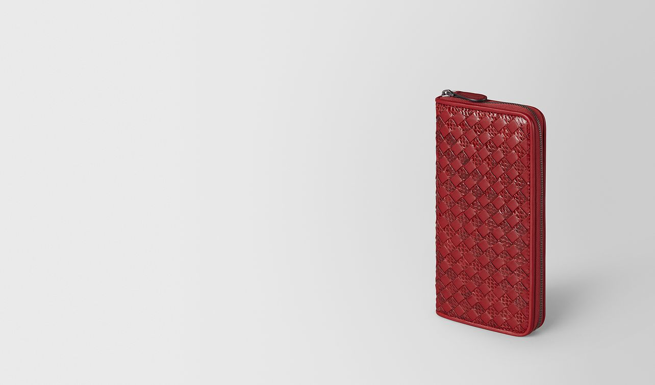 zip-around wallet in intrecciato chequer and ayers landing