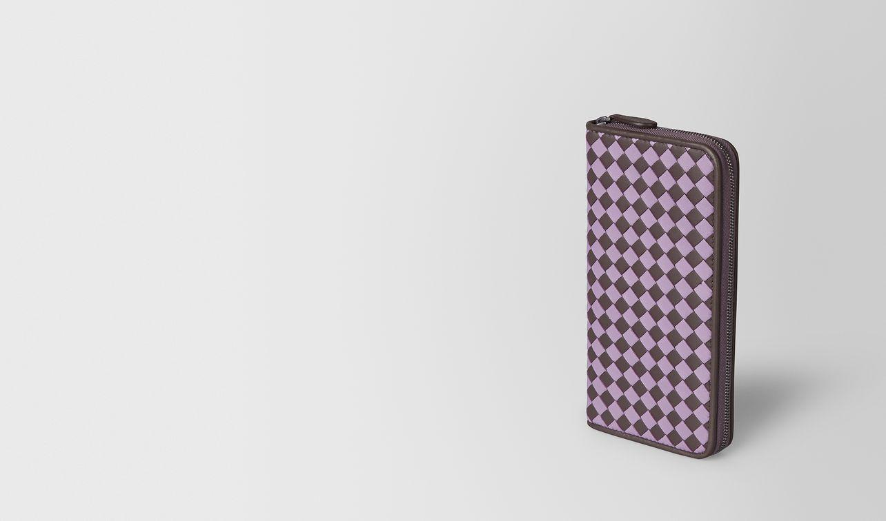 zip-around wallet in intrecciato chequer  landing