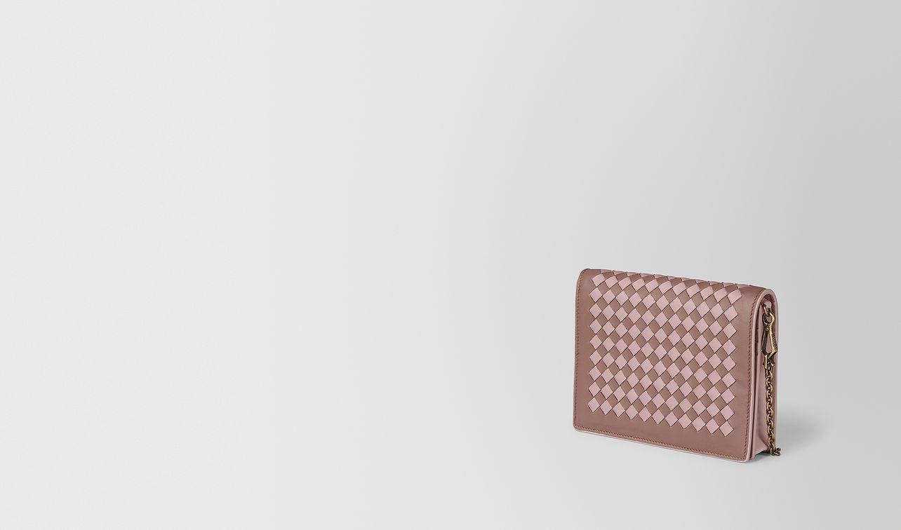 chain wallet in intrecciato checker  landing