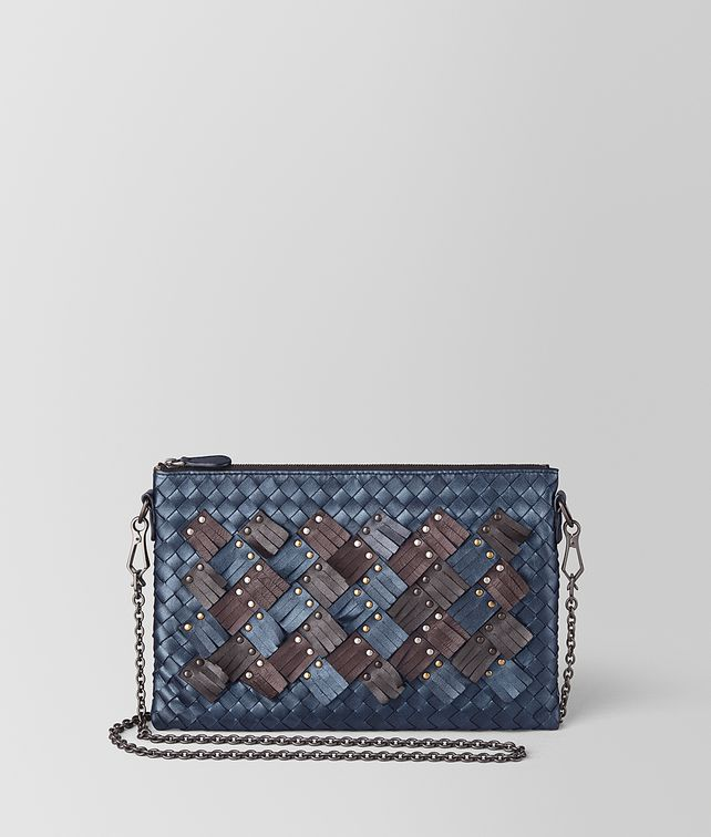 BOTTEGA VENETA BILETTO CHAIN IN INTRECCIATO PLUME CHAIN WALLET [*** pickupInStoreShipping_info ***] fp