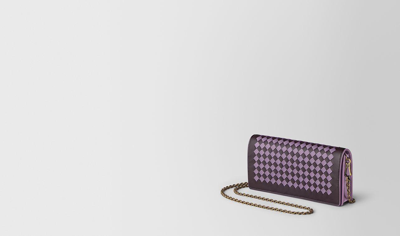 chain wallet in intrecciato chequer  landing