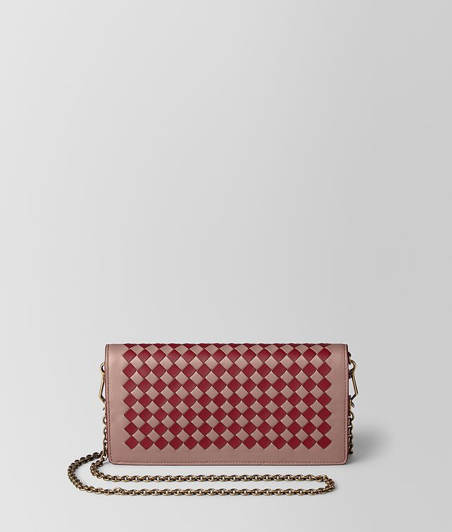 BOTTEGA VENETA CHAIN WALLET IN INTRECCIATO CHEQUER Mini Bag and Pouche Woman fp
