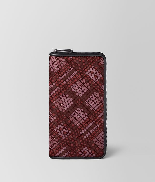 BOTTEGA VENETA ZIP-AROUND IN TARTAN DOTS Zip Around Wallet [*** pickupInStoreShippingNotGuaranteed_info ***] fp